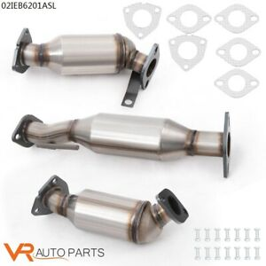 3pc Set Catalytic Converter Fit For 2009 2017 Buick Enclave 3 6l Direct 4 door