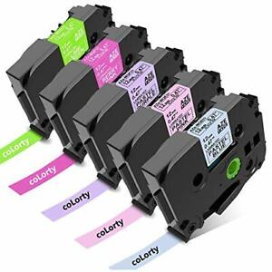 Colorty Compatible Label Tape Replacement For Brother P Touch Label Maker Tap