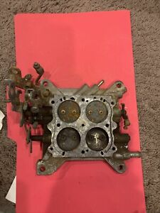 Holley 12r 5204b 1850 W ford Kick Down 600 Cfm Carburetor Base Plate Used