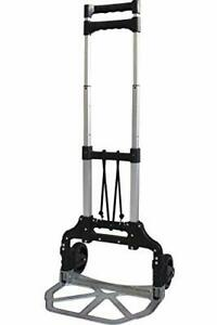Trolley With Bungee Folding Hand Truck Dolly Aluminum Alloy Portable Luggage
