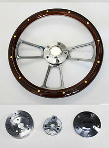 60 73 All Vw Volkswagen Beetle Bug Mahogany And Billet Steering Wheel 14