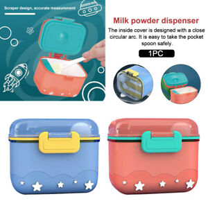 With Spoon Milk Powder Bedroom Travel Portable Easy Clean Baby Formula Dispenser