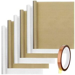 6 Pcs Teflon Sheet With 1 Heat Tape For Heat Press Transfer Paper 11 8 X 15 7
