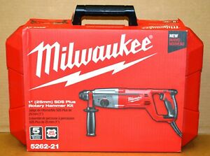Milwaukee 5262 21 1 Sds Plus Rotary Hammer Drill Corded With Case New Sealed