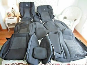 Oem 2021 Dodge Charger Scat Pack Complete Seat Cover Set Dk Grey Cloth