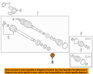 Toyota Oem Drive Axles front axle Seal Right 90311a0029
