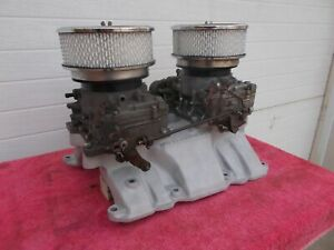 Buick Nailhead 401 425 Dual Quad Induction System 2x4bbl Carter Afbs Nice