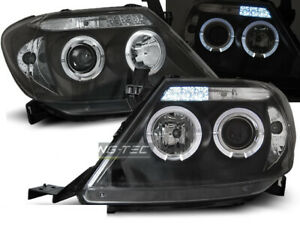 Headlights For Toyota Hilux 05 11 Angel Eyes Black Worldwide Freeship Us Lpto08