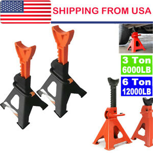 3 6 Ton High Lift Jack Stands 2 Pieces Car Auto Truck Garage Tools Set Us 2021