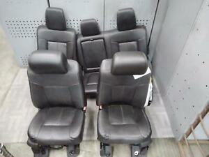 2011 2016 Ford F350sd Front Rear Seat Set Bucket Leather Oem 2015