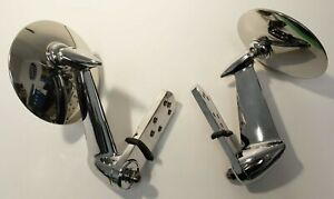 Chrome Door Rearview Mirrors Set 1953 66 Ford Pickup Truck Pair