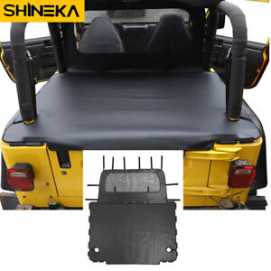 Leather Rear Trunk Soft Top Bikini Isolation Cover For Jeep Wrangler Tj 1997 06 Fits Jeep Tj