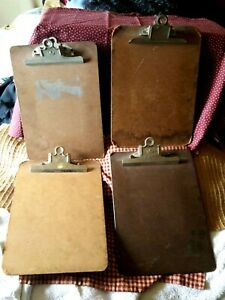 Vintage Wooden Masonite Clipboards Letter 9 X 12 A W Lot Of 4