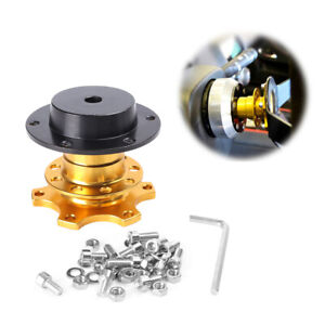 Universal Quick Release Steering Wheel Hub Sports For Momo Sparco Omp Yellow