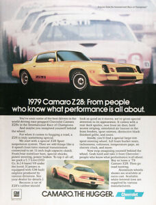 1979 Chevrolet Camaro Z28 Genuine Vintage Ad The Hugger Free Shipping