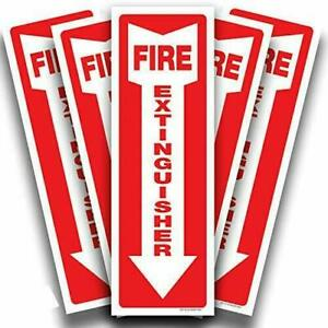 New Isyfix Fire Extinguisher Stickers 5 Pack Size 4 X 12