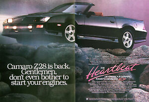 1991 Chevrolet Z28 Camaro Convertible Genuine Vintage Ad Free Shipping