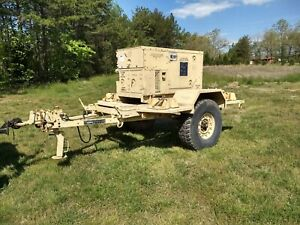 Fremont Mep 803a 10kw Military Generator And Trailer