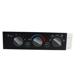 Heater A c Control Panel W o Rear Window Defogger Fit For Chevy Gmc 9378815