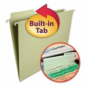 Smead Fastab Moss Green Hanging File Folders 1 3 Tab Letter 20 box smd64082