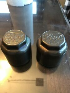 Vintage Ford Dust Grease Bearing Cap Hub Cap Made In Usa Lot Of 2 No Damage