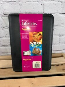 New At a glance Life Links Black Zippered Organizer Planner 5 1 2 X 8 1 2