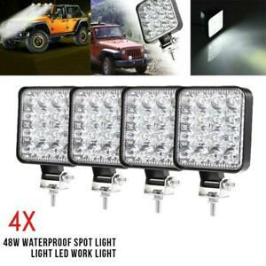 4x 48w Led Work Light Bar Flood Spot Lights Driving Lamp Offroad Car Truck Suv