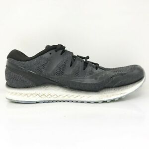 Saucony Mens Freedom Iso 2 S20440 1 Gray Running Shoes Lace Up Low Top Size 11