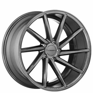 Vossen Cvt 19x8 5 5x112 30mm Graphite Set Of 4 Fits Vw Mbz