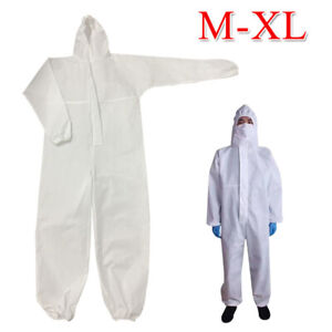 Coveralls Protective Suit Safety Hood Overall Work Clothing Breathable Sets