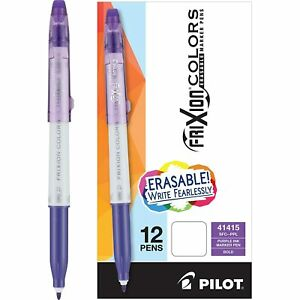 Pilot Frixion Colors Erasable Marker Pen Bold Point 2 5mm Purple Ink 12 box