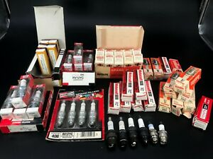 Lot Of Mixed Brands Of Spark Plugs autolite Motorcraft Denso Most In Box