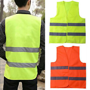 2pcs Security Visibility Construction Traffic warehouse Safety Reflective Vest