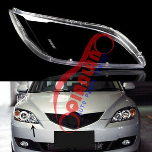For Mazda 3 2004 2009 Right Side Headlight Lens Cover Sealant Glue Replace