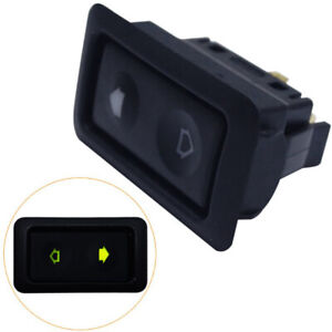 2pcs Universal 6pins Electric Power Window Switch With Indicator Light Control