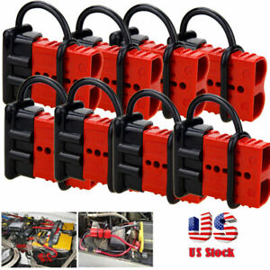 8x 50a Car Battery Quick Connect Disconnect Winch Connector 4 6 Gauge Cable Plug