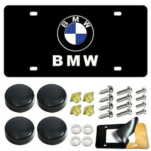 Front License Plate For Bmw Heavy Duty Stainless Steel Black Car Tag Holder Cov