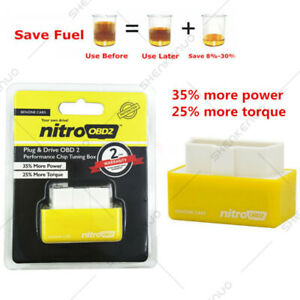 nitro Obd2 Fuel Saver Tuning Box Chip For Petrol gas Vehicles Plug Drive
