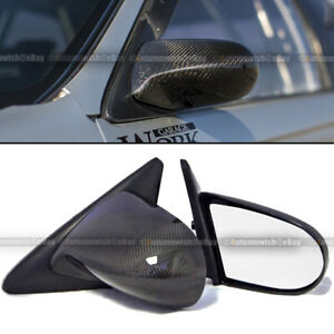 For 02 06 Acura Rsx Dc5 Carbon Fiber Manual Adjustable Spoon Style Side Mirror