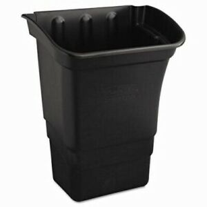 Rubbermaid 335388 Utility Cart 8 Gallon Refuse Bin Black rcp335388bla