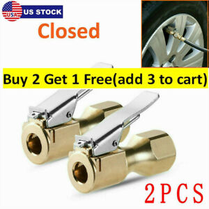 Heavy Duty Closed Flow Lock On Tire Chuck With Clip For Inflator Gauge Air Chuck