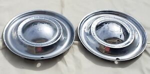 Vintage Lyon 1951 Kaiser Wheel Covers Hub Caps Set Of Two
