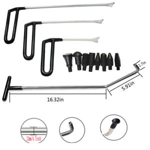 Pdr Tools Push Rod Hooks Paintless Dent Repair Dent Puller Car Removal Tools