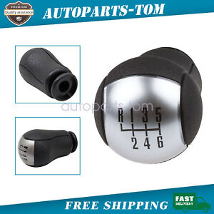 Black 6 Speed Car Gear Stick Shift Knob For 2011 2012 Ford Mustang Us Br3z 7213a