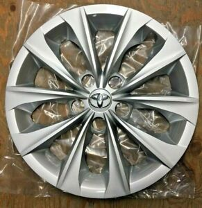 1x 16 10 Spoke Silver Hubcap Wheelcover Fits Toyota Camry 2015 2016 2017