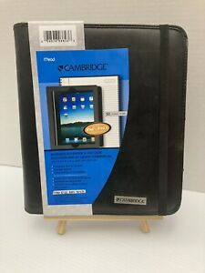 Mead Cambridge Business Notebook Ipad Case black Simulated Leather 67128