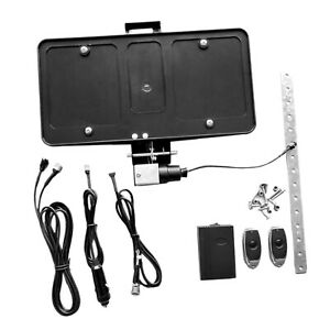 Usa Retractable Electric Stealth License Plate Frame With Remote Control