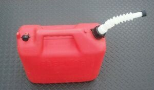 Wedco 5 Gallon Plastic Gasoline Can Vented w Flexible Gas Can Spout Cap