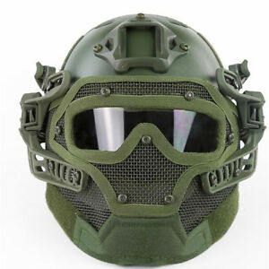 Airsoft Paintball Tactical Fast Helmet Goggles amp; G4 System Games Full Face Mask $59.39