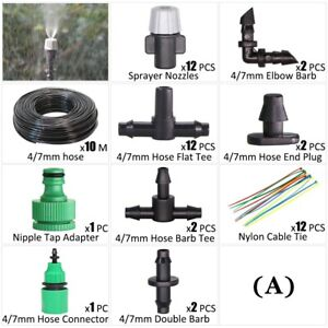 4 7mm Garden Irrigation Automatic Spray Sprinkler Kit Fog Nozzle Watering Type A